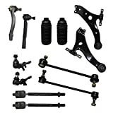 New Complete 12pc Front Suspension Kit for Toyota & Lexus - 10-Year Warranty- Both (2) Lower Control Arms, 2 Lower Ball Joint, 2 Sway bar links, All (4) Tie Rods Ends, 2 Tie Rod Boot……