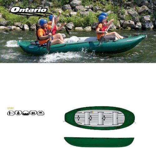 Holly Products Stabielo Sport Ontario Gumotex-Kayak gonfiabile,, 6 persone, disponibile in: rosso, blu, verde, pesca, campeggio, Caravan esterni-Image-Sunshade Holly