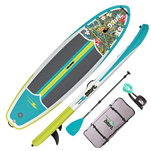 DRIFT 10'8' Inflatable Stand Up Paddle Board, SUP with Accessories | Pump, Lightweight Paddle, Fin &...