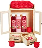 BRUBAKER Cosmetics Bade- und Pflegeset Cranberry im Holzschrank