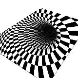 3D Visual Illusion Bedroom Carpet Payaso Trampa Visual Alfombra...
