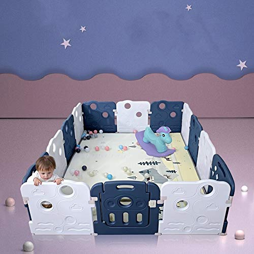 Find Discount Ybriefbag-Home Baby Plastic Big Playpen Colors Foldable Portable Room Divider Child Ki...
