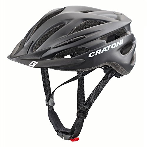 Cratoni Pacer+ Fahrradhelm, Black Matt, S-M