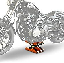 Caballete Elevador Tijera Moto ConStands Gato Lift M Naranja