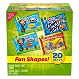 Nabisco Fun Shapes Cookie & Cracker Mix, Variety Pack with Teddy Grahams, Chips Ahoy Cookies &...