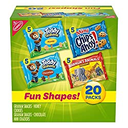Nabisco Fun Shapes Cookie & Cracker Mix, Variety Pack with Teddy Grahams, Chips Ahoy! Cookies & Barn