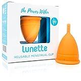 Lunette Copa menstrual reutilizable - Naranja - Modelo 2 para flujo medio o abundante...