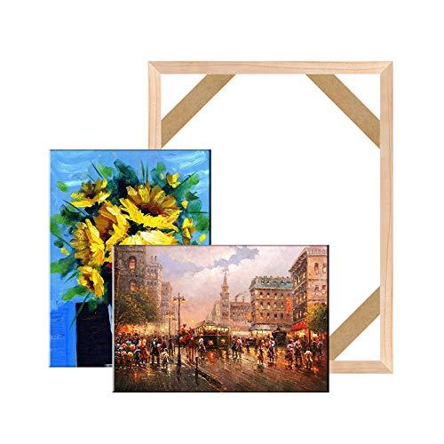 Keilrahmen auf Leinwand, gerahmt, Zubehör auf Leinwand, Holzrahmen, DIY Kunstleinwand Rahmen 50x60cm/20'x24' Log