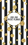 2020-2022 Pocket Planner: Cute 3 Year Inspirational Monthly Pocket Organizer, Calendar & Schedule Agenda with Phone Book, Password Log & Notes - Trendy Black & White Horizontal Lined Pattern