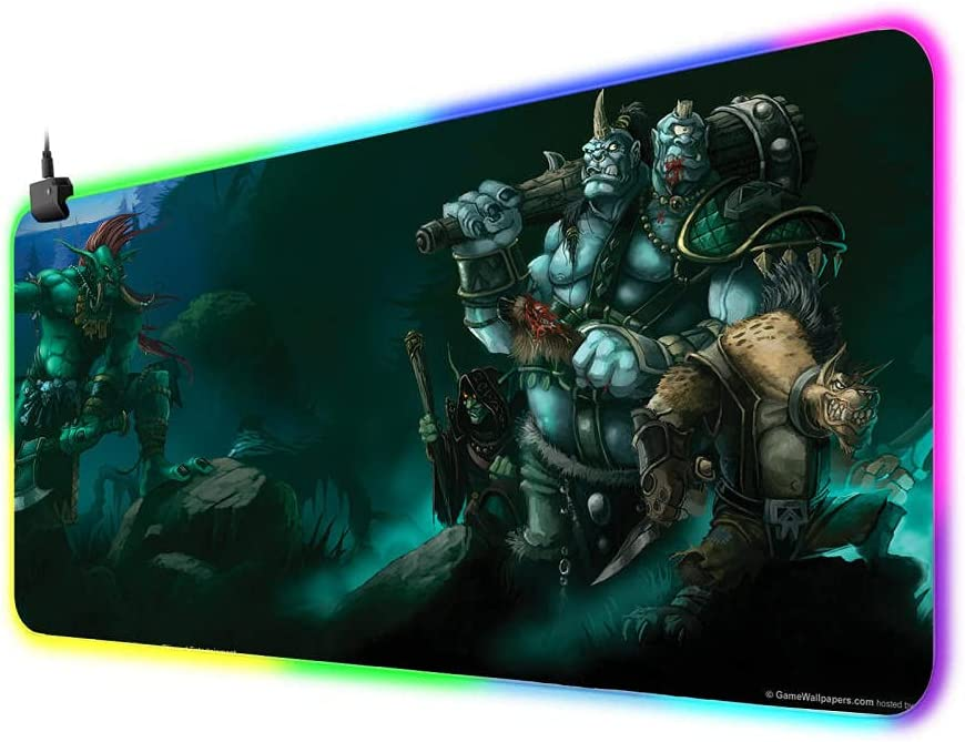 Mouse Pads Warcraft Gaming Ranking TOP18 Mousepad Limited time sale LE RGB Large Pad Gamer