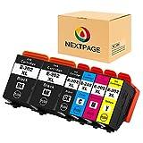 NEXTPAGE 202XL - Cartuchos de tinta para Epson Expression Premium XP-6000 XP-6005 XP-6100 XP-6105 XP6000 XP6005 XP6100 (2 negros, 1 foto negro, 1 cian, 1 magenta y 1 amarillo)