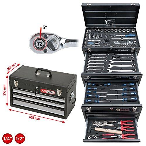 KS Tools 918.0200 1/4″+1/2″ CHROMEplus Universal-Werkzeug-Satz, 99-tlg. - 2
