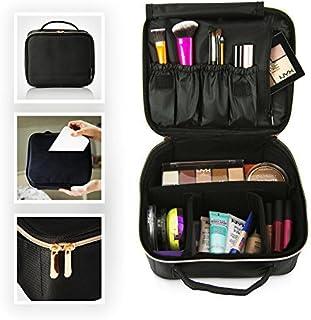 Travel Makeup Bag - Designer Cosmetics Bag with Rose Gold Zipper - Makeup Case and Toiletry Bag - Train Case Make up Bag f...