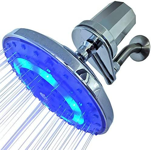Pure Blue H2O Spring new work one after another Rain Garden Al sold out. LED Filtration Shower Showerhead and S