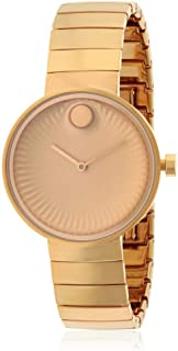 Movado Womens Quartz Watch, Analog Display and Stainless Steel Strap 3680013