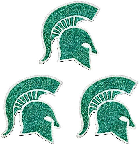 Qduoduo MSU Michigan Spartans Embroidered Iron On Sew On Patch for Jackets Backpacks Jeans and Clothes Alumnus Badge Applique Emblem Sign Sport Decal 3Pcs (MSU)