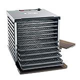 LEM Food Dehydrator 800 Watt 10-Tray Programmable Temperature Control Black