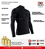 X Bionic Energy Accumulator 4.0 Turtle Neck Long Sleeves, Strato Base Camicia Funzionale Uomo, Black/Black, XL