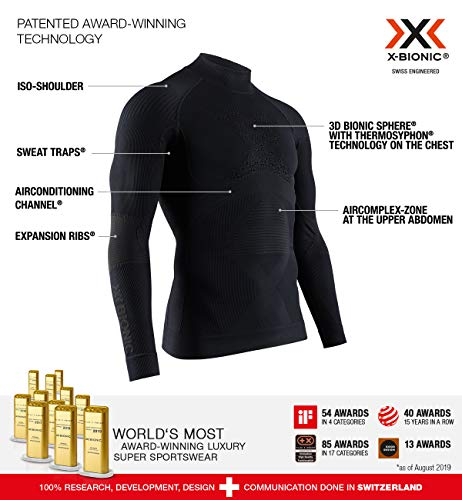 X Bionic Energy Accumulator 4.0 Turtle Neck Long Sleeves Strato Base Camicia Funzionale, Uomo, Black/Black, 2XL