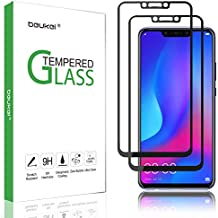 (2 Pack) Beukei Compatible for Huawei nova 3 and Huawei nova 3i Screen Protector Tempered Glass, Full Screen Coverage, Touch Sensitive,Case Friendly, 9H Hardness