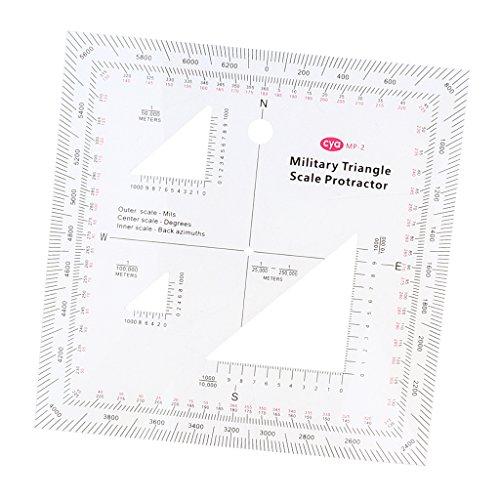 Militär Planzeiger coordinate scale Schablone für Taktische Zeichen aus Acryl