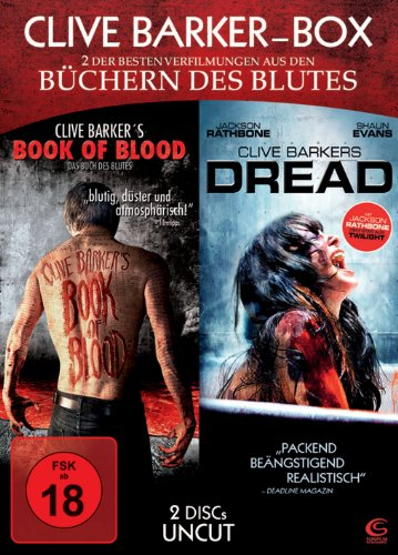 Clive Barker Box UNCUT - 2 Horror-Highlights in einer Box: Book of Blood + Dread [2 DVDs]