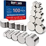 DIYMAG 2MM-Mix 100 Piece Refrigerator Magnets for Office, Hobbies, Crafts and Science, Round Ceramic Industrial Ferrite Magnets, Push Pin Magnets, Fridge Magnets, Whiteboard Magnets