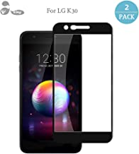 Akimy for LG K30 Screen Protector Glass [2-Pack] Tempered Glass Screen Films Full-Screen-Coverage