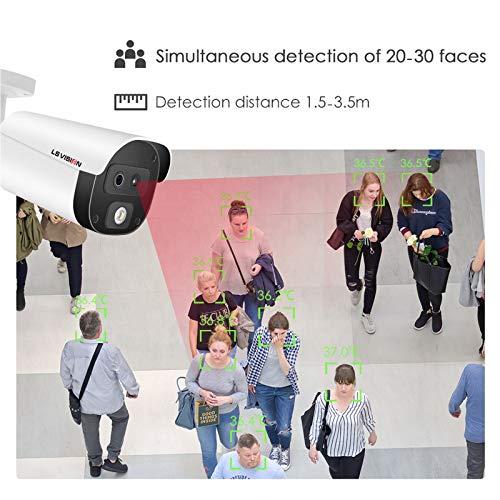 Telecamera bullet termografica con screening della temperatura corporea, termocamera automatica a lunga distanza, termocamera a infrarossi per scuola, stazione, azienda