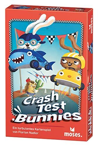 moses. Verlag GmbH 90338 Crash Test Bunnies-Kriegst du die Kurve | EIN turbulentes Kartenspiel | Für 2-4 Spieler, ab 8 Jahren, bunt