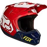 Fox Helmet V-2 Preme, ECE Navy/Red