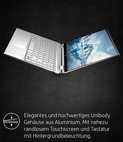 HP Spectre x360 13-aw0020ng (13,3 Zoll / FHD Touch) Convertible (Intel Core i7-1065G7, 16GB DDR4 RAM, 512GB SSD, 32GB Intel Optane, Intel Iris Plus Grafik, Win10) silber inkl. Pen + USB-C Hub