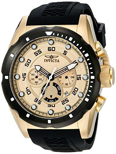 Reloj para hombre de acero inoxidable bañado en iones Invicta 20306Speedway en oro de 18K