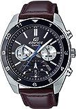 Casio Reloj Analógico para Hombre de Cuarzo japonés con Correa en Cuero Genuino EFV-590L-1AVUEF