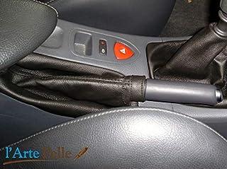 Cuffia leva freno Renault Laguna vera pelle nera