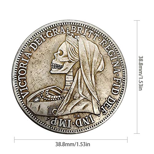 rosemaryrose Silbermünzen Krügerrand Silber Silber -Pferdeschwert Silbermünze 1900 Silberrund Silbermünze Gedenkmünze