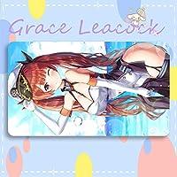 GraceLeacock カードゲームプレイマット 遊戯王 プレイマット Azur Lane アズールレーン Honolulu ホノルル アニメグッズ TCG万能 収納ケース付き アニメ 萌え カード枠なし (60cm * 35cm * 0.5cm)