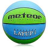 meteor® Layup Kinder Jugend Basketball Größe #3 ideal auf die Kinderhände von 4-8 Jährigen abgestimmt idealer Basketball für Ausbildung weicher Basketball (Blau & Grün - Größe #3)
