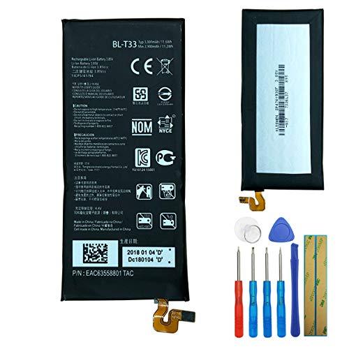 E-yiiviil BL-T33 - Batería de repuesto para LG Q6 G6mini M700A M700AN M700DSK M700N (3000 mAh, con herramientas)