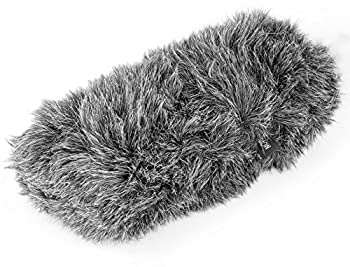 Movo WS-S1000 Furry Outdoor Deadcat Windscreen for Shotgun Microphones up to 7-inch  18cm  Long - Fits Rode VideoMic NTG-2 Sennheiser ME66 Audio-Technica AT-897 and More