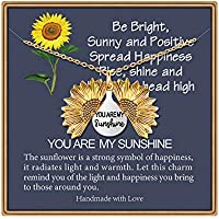 Iefshiny You are My Sunshine Engraved Necklace
