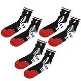 Alomejor 3 Paare Sportsocken Atmungsaktive Schweißaufnahme Männer Socken für Basketball Reiten Laufen Radfahren Wandern Gehen