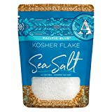 SaltWorks Pacific Blue Kosher Flake Sea Salt, Artisan Zip-Top Pouch, 2.5 Ounce