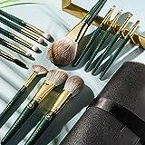 Rownyeon Makeup Brush Set Professional 13 Pcs Premium Synthetic Foundation Powder Concealers Eye Shadows Blush Makeup Brushes with Cosmetics Bag