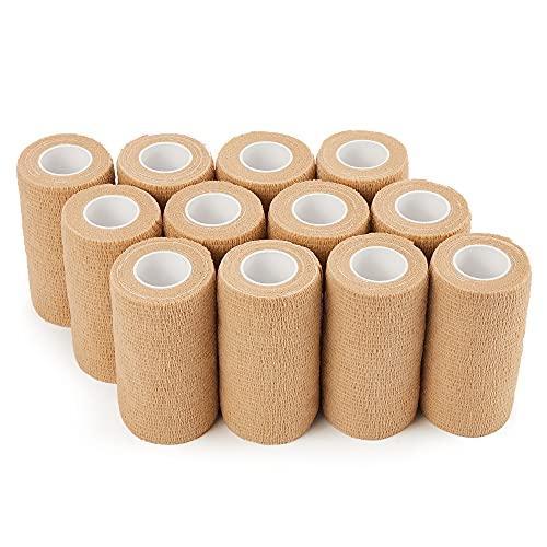 Venda cohesiva 10cm x 4.5m - 12 Rollos Vendas Autoadhesivas