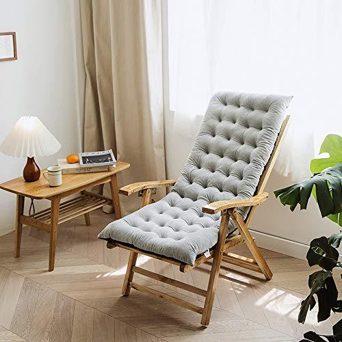 Guoz Cojín de Silla de salón de Patio de 125 cm,Cojines de Interior/Exterior Chaise Lounge Cojín...