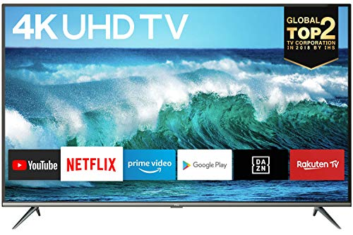 TCL 50EP640 Fernseher 126 cm (50 Zoll) Smart TV (4K UHD, HDR 10, Triple Tuner, Android TV, Micro Dimming, Prime Video, Alexa und Google Assistant) Schwarz
