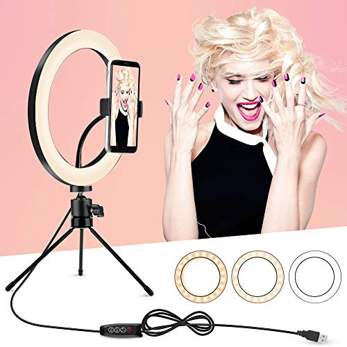 Ring Light with Tripod Stand and Phone Holder $19.99(50% Off)