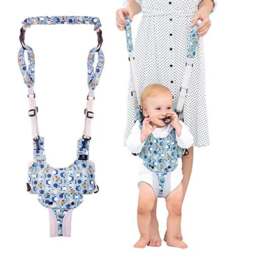 Radea Handheld Baby Walker - Easy-Wearing Baby Walking Assistant - Toddler Helper to Walk & Stand - Comfy Padded Baby Walking Harness - Adjustable Straps 2-Handle Design for Mommy & Daddy