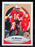1990 Fleer #10 Joe Montana Auto 49ers...
